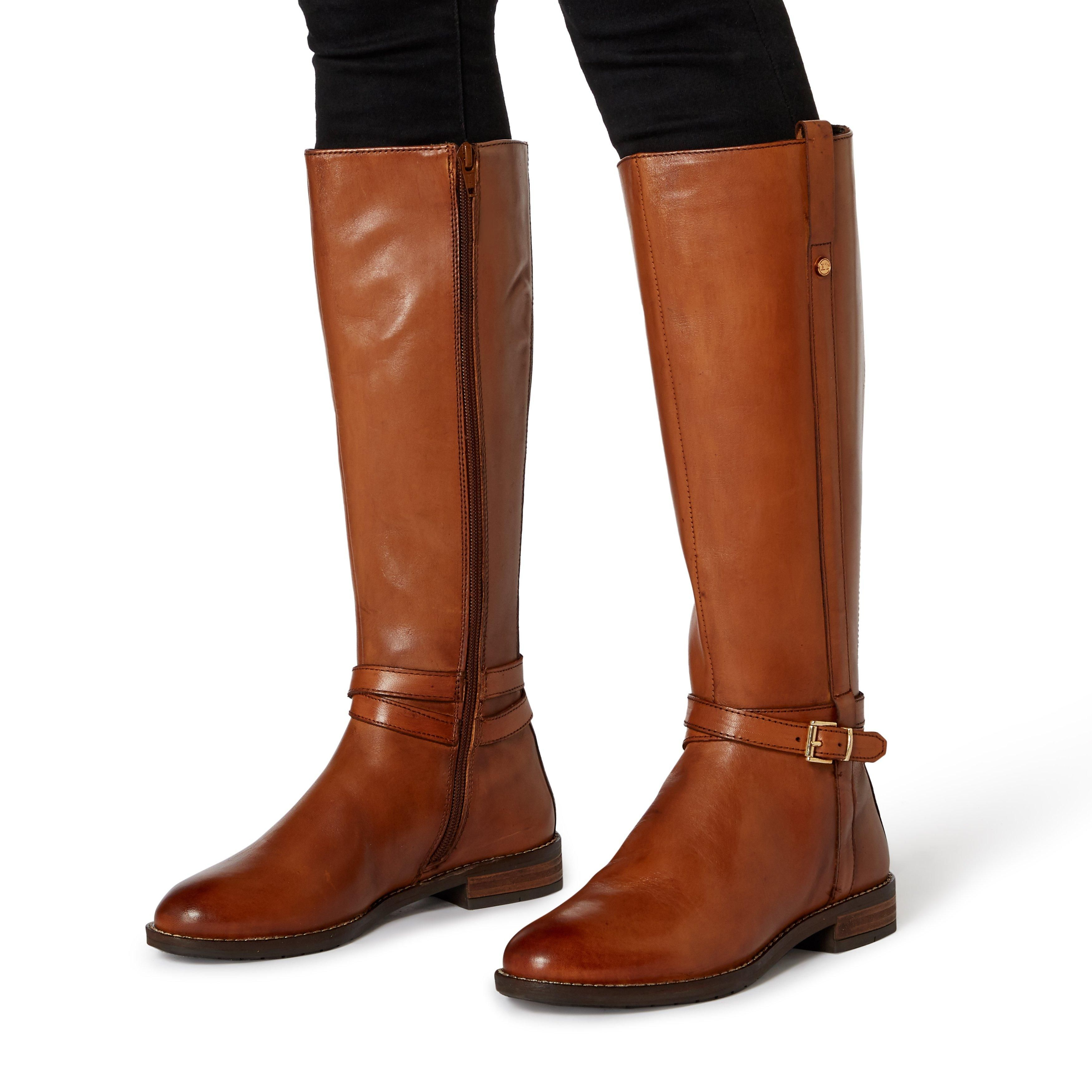 Dune Ladies TYLAR Double Strap Knee High Boots