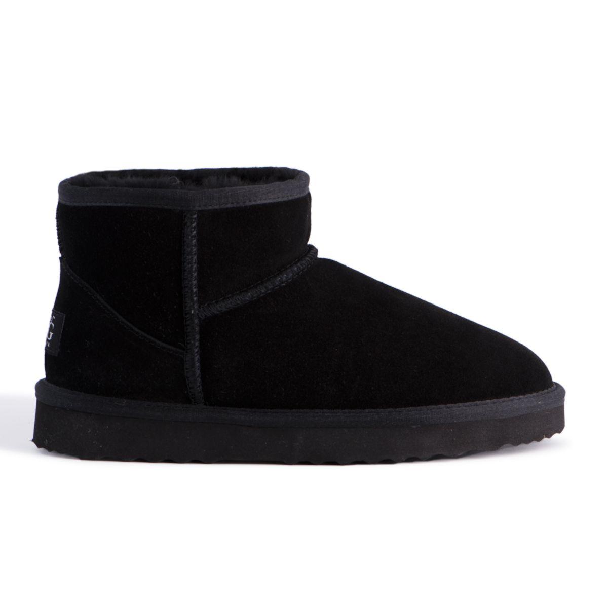 "Aus Wooli ""Bondi"" Australia Short Sheepskin Ankle Boot, Black"