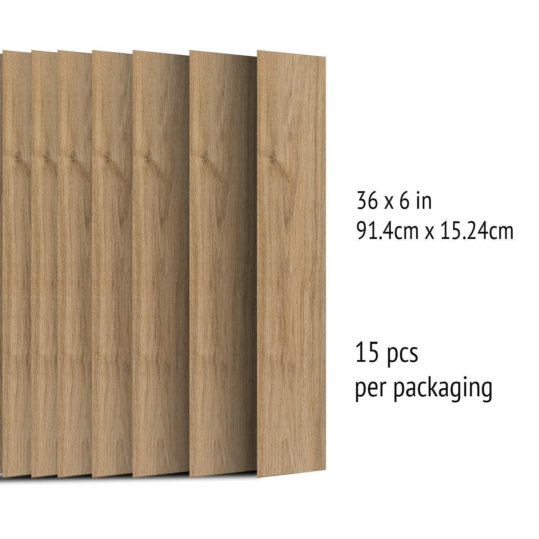 Umber Brown Wood Look Planks Barnwood Oak Wall Paper, Wall Paper Living Room, Wall Paper Self-Adhesive