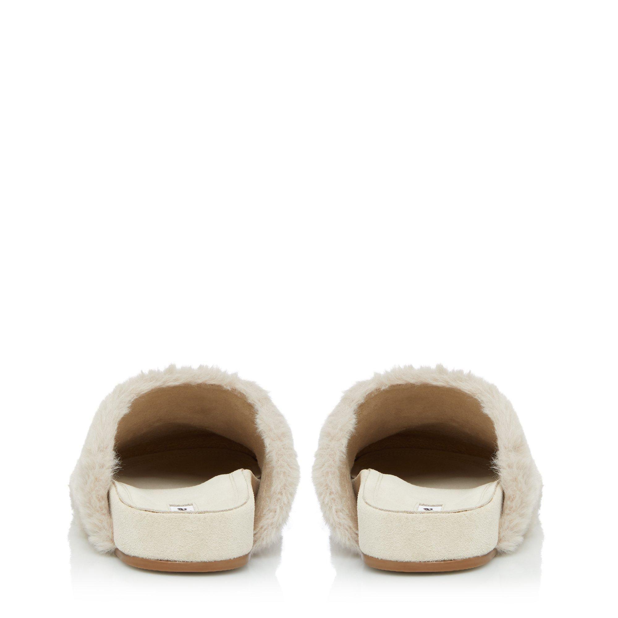 Dune Ladies WANDA T Faux Fur Slippers