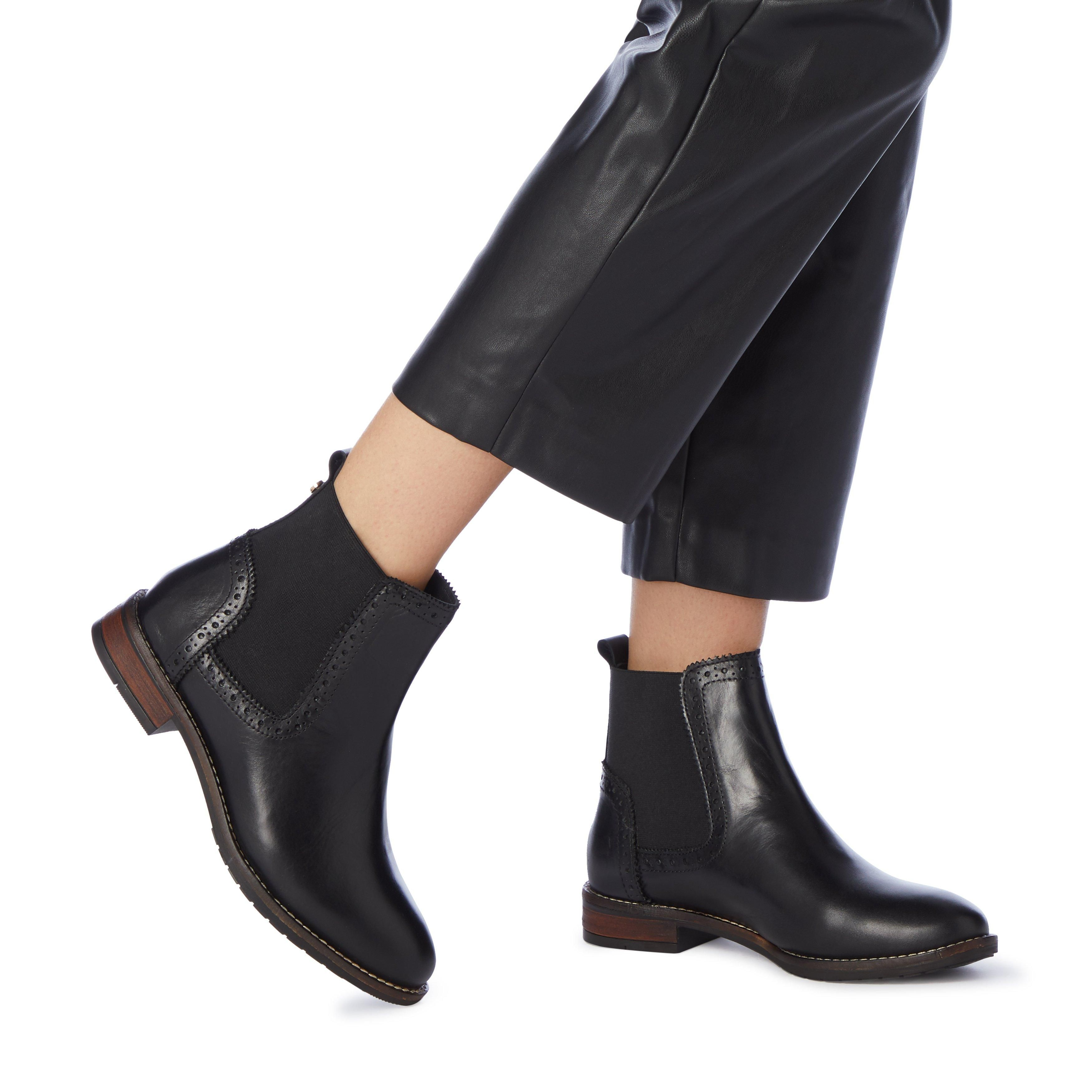 Dune Ladies WF QUANT Wide Fit Brogue Chelsea Boots