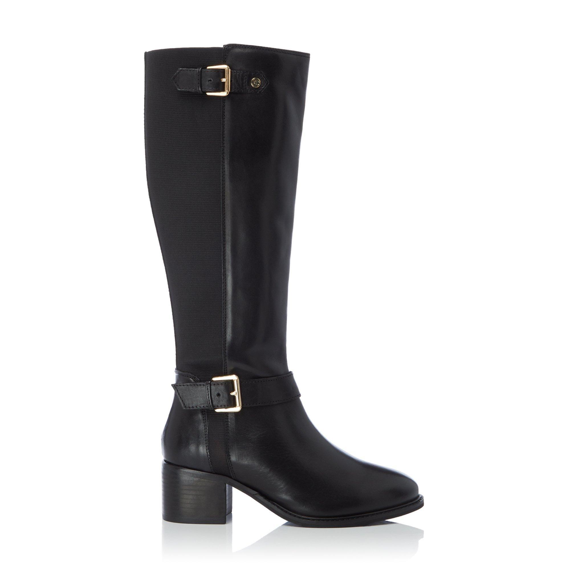 Dune Ladies WF TILDAS Wide Fit Buckle Strap Detail High Leg Boots