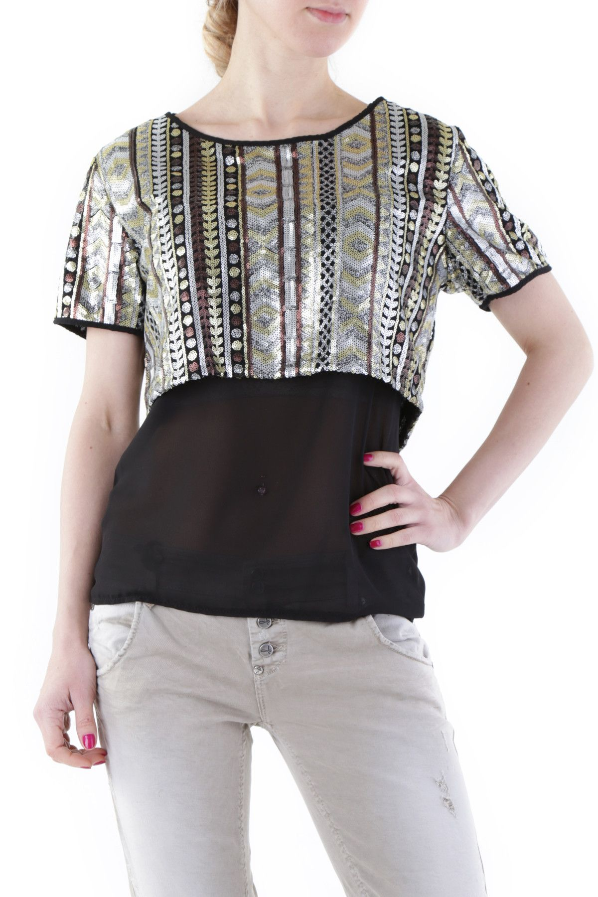 525 Women's Blouse In Black