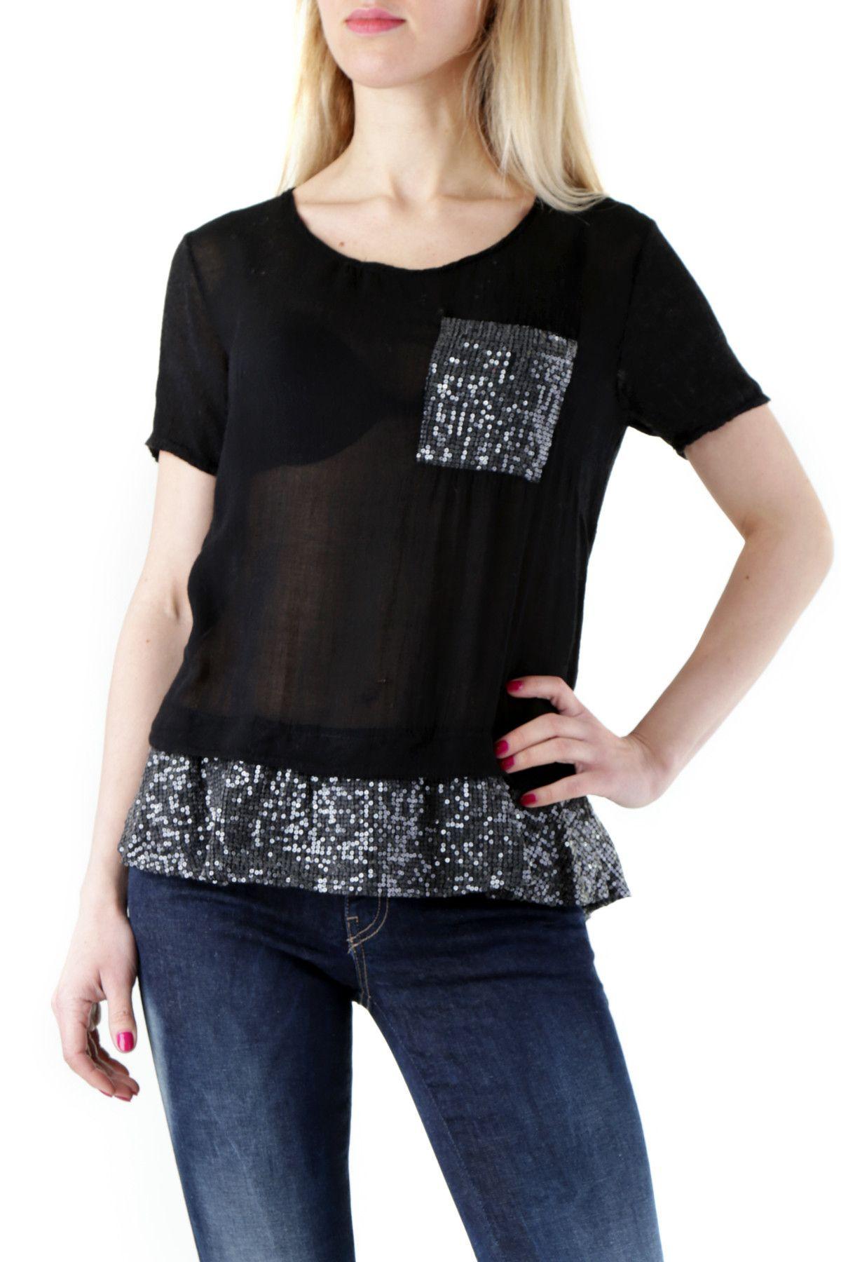 525 Women's Blouse In Black