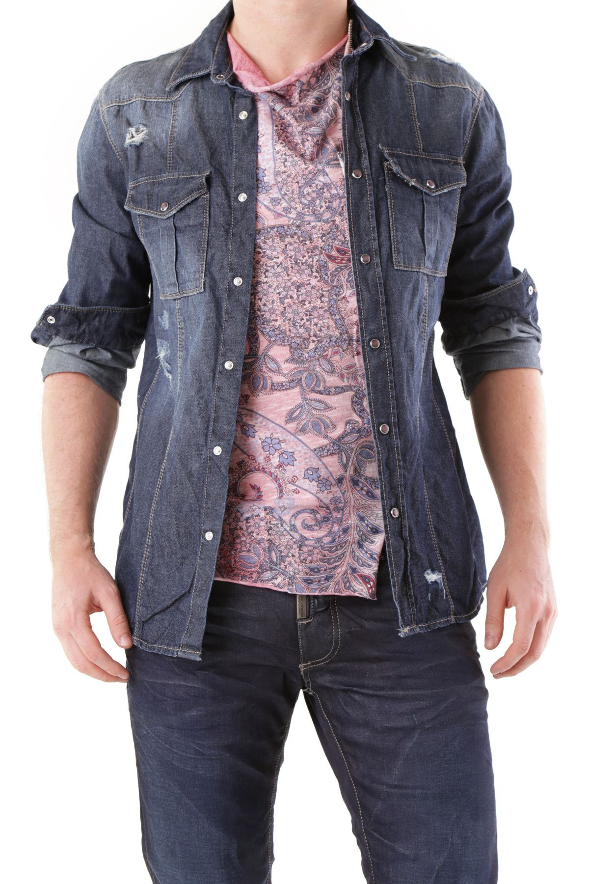 525 Men's Shirt In Blue
