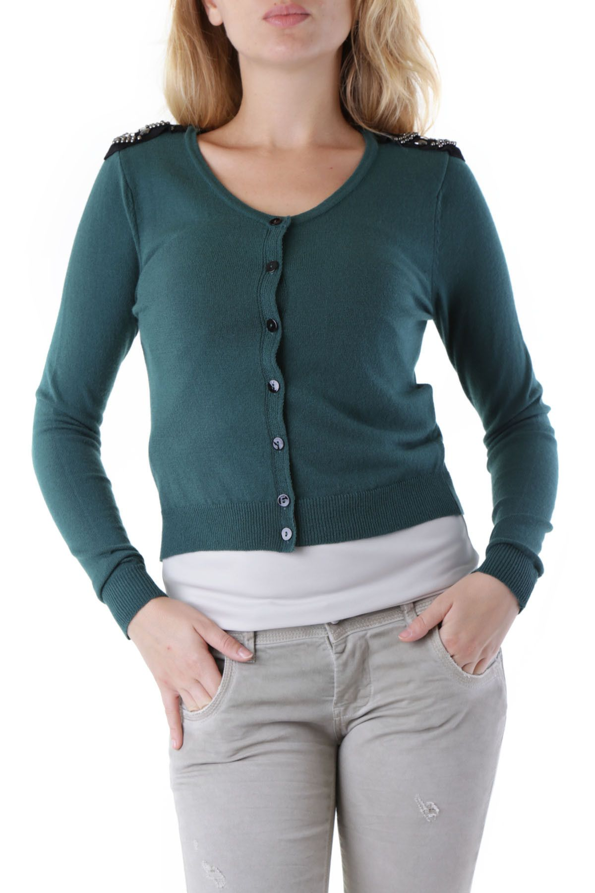 Olivia Hops Women's Cardigan In Green
