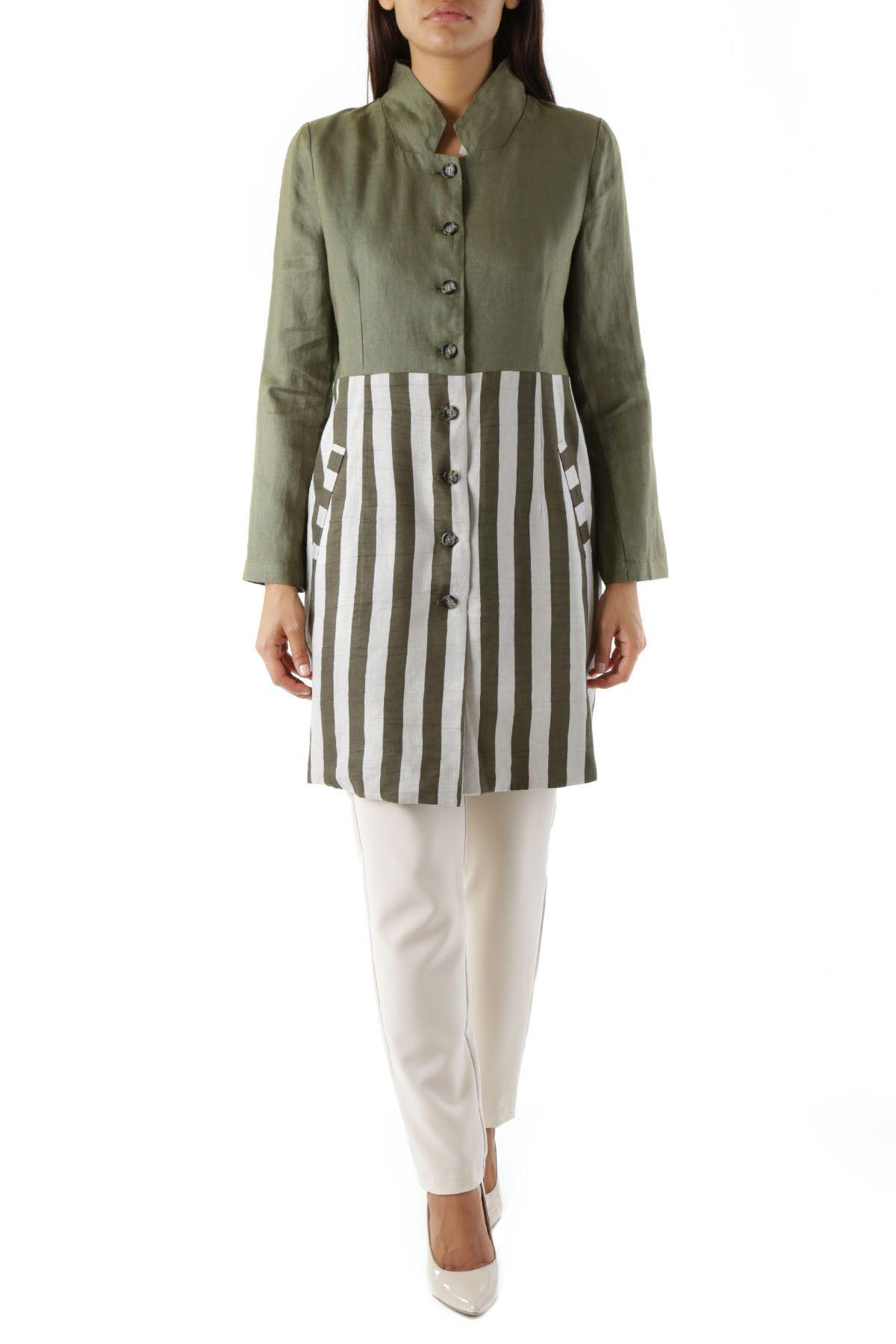 Olivia Hops Women's Blazer In Green