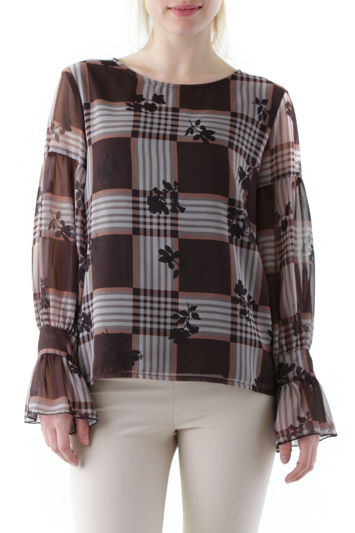 Olivia Hops Women's Blouse In Brown