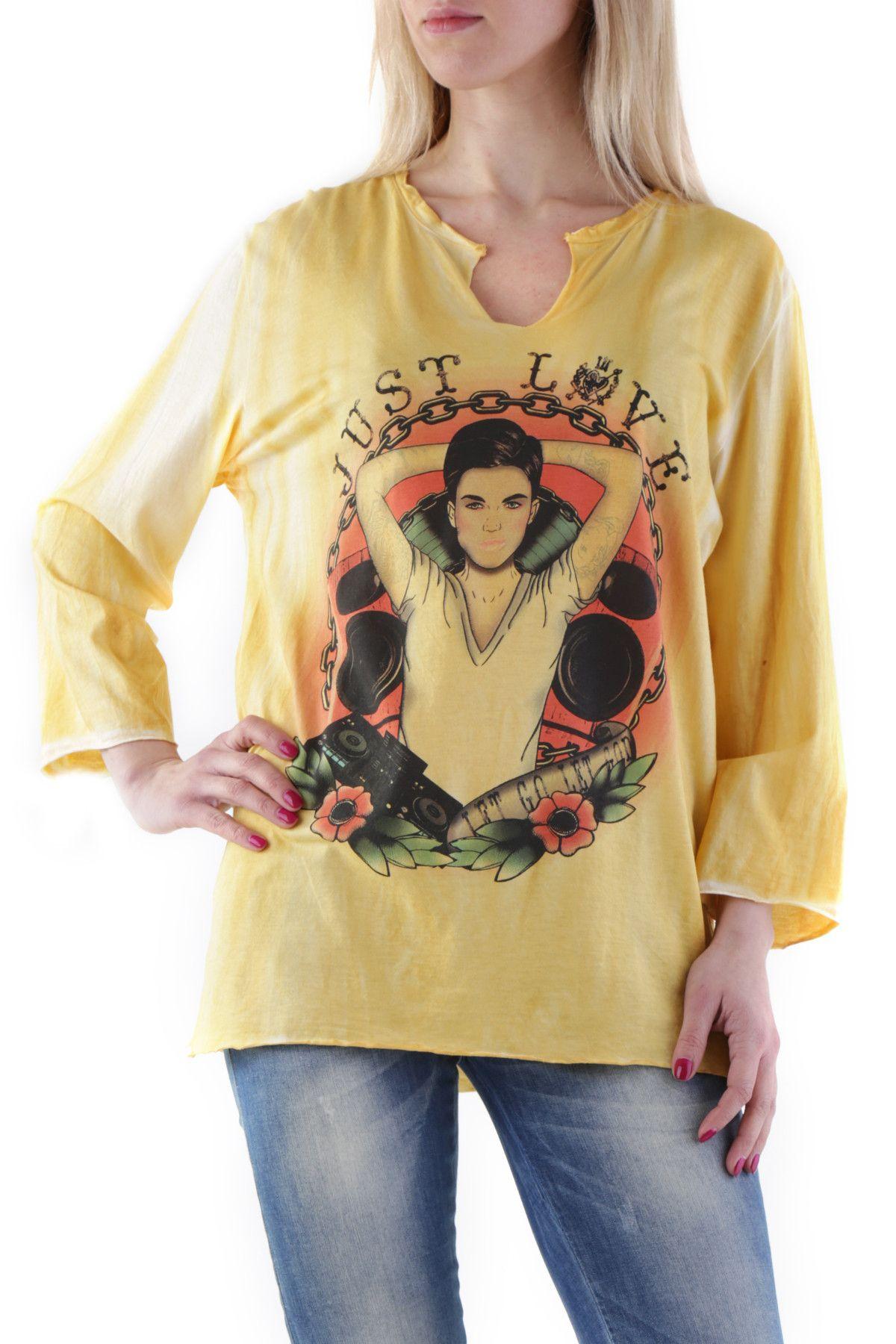 525 Women's T-Shirt In Yellow