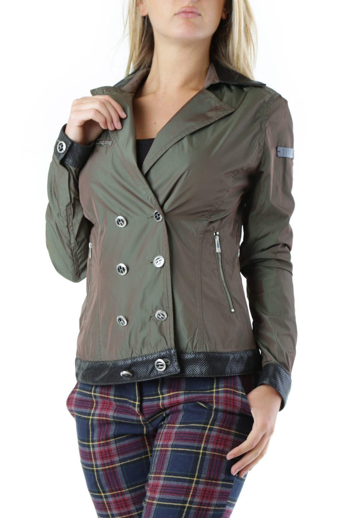 Husky Women's Blazer In Green