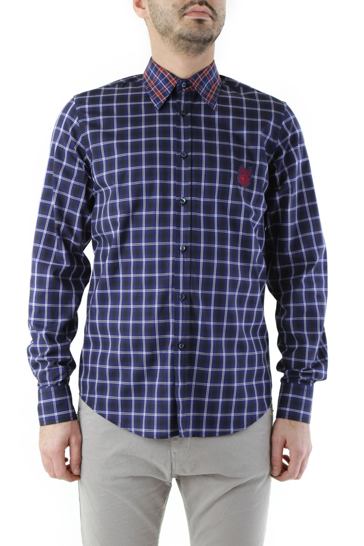 Husky Men's Shirt In Blue