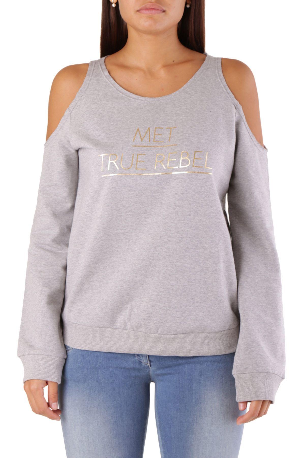 Met Women's Sweatshirt In Grey