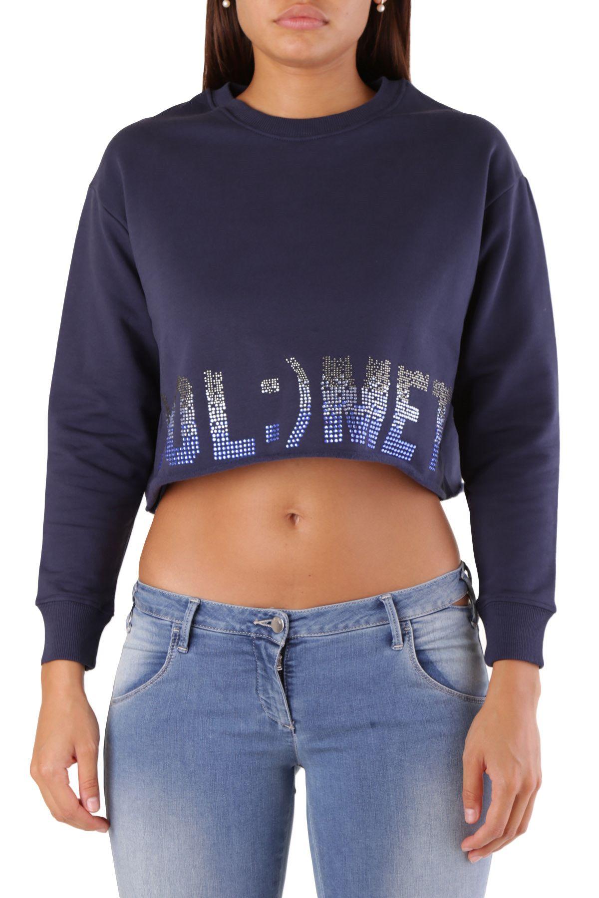Met Women's Sweatshirt In Blue