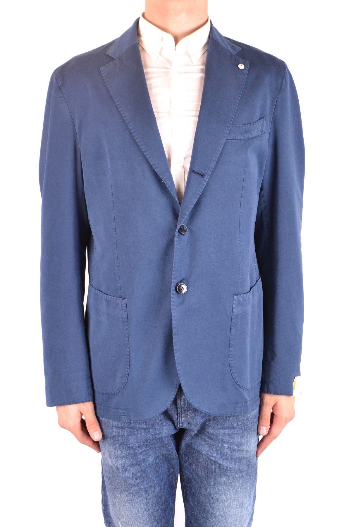 L.B.M Men's Blazer In Blue