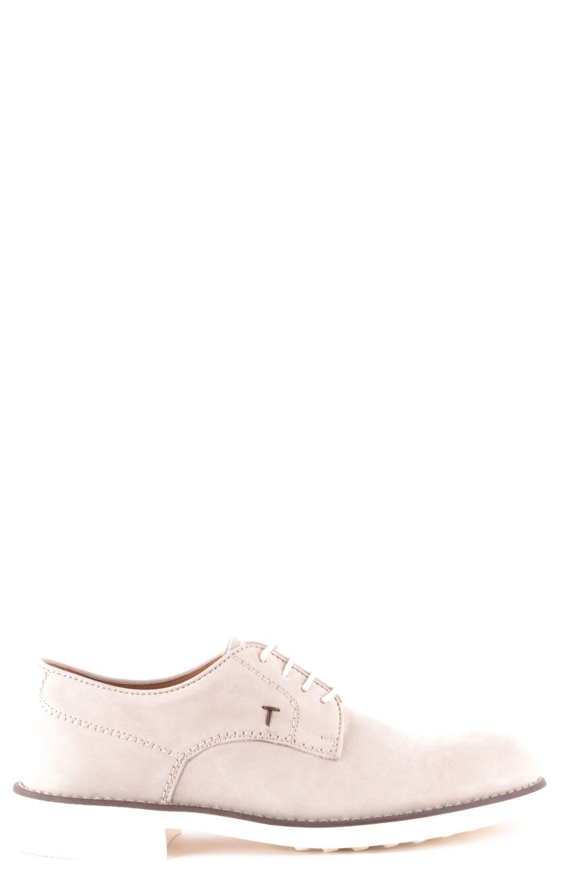 Tod`S Men's Lace Ups Shoes In Grey