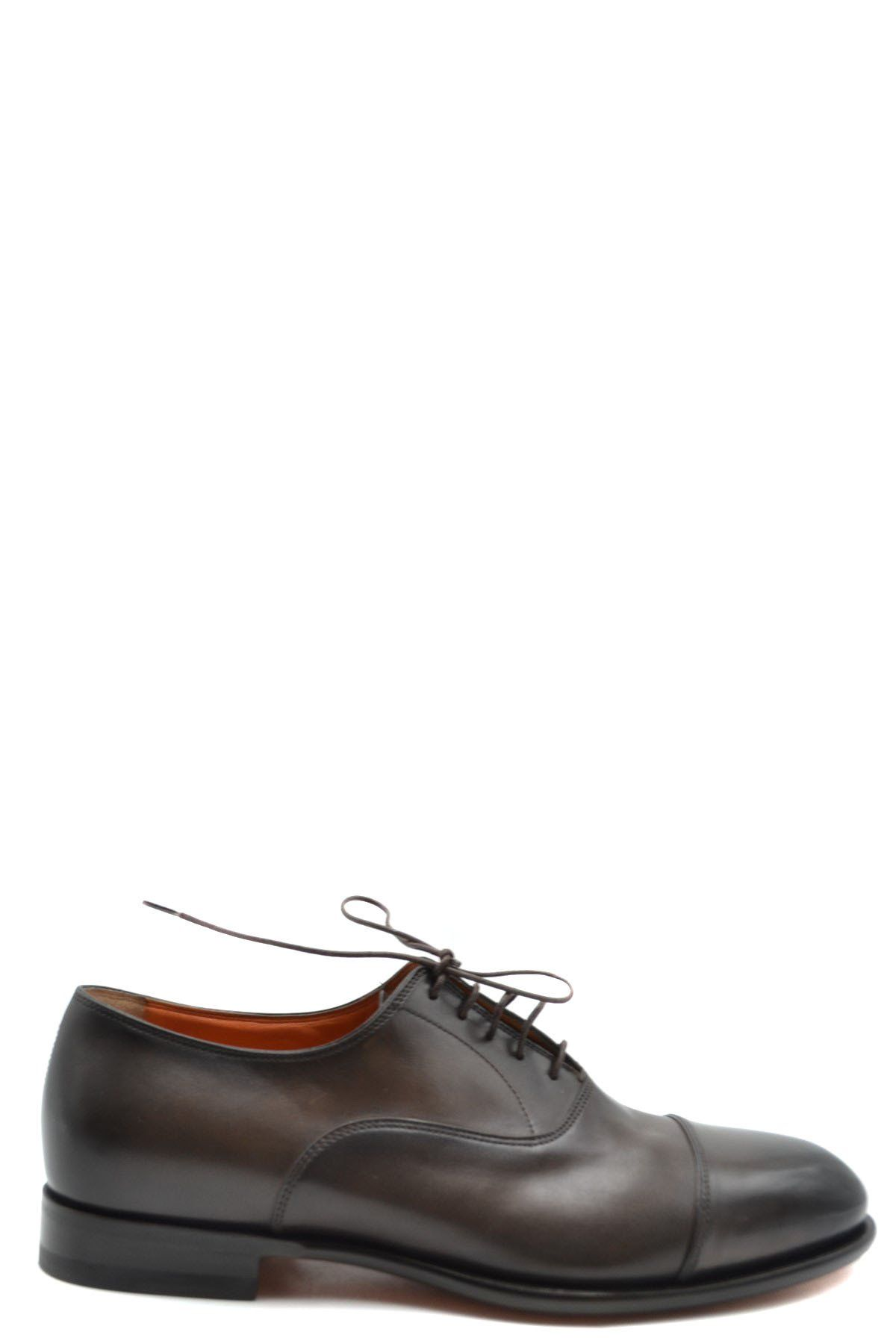 Santoni Men's Lace Ups Shoes In Brown