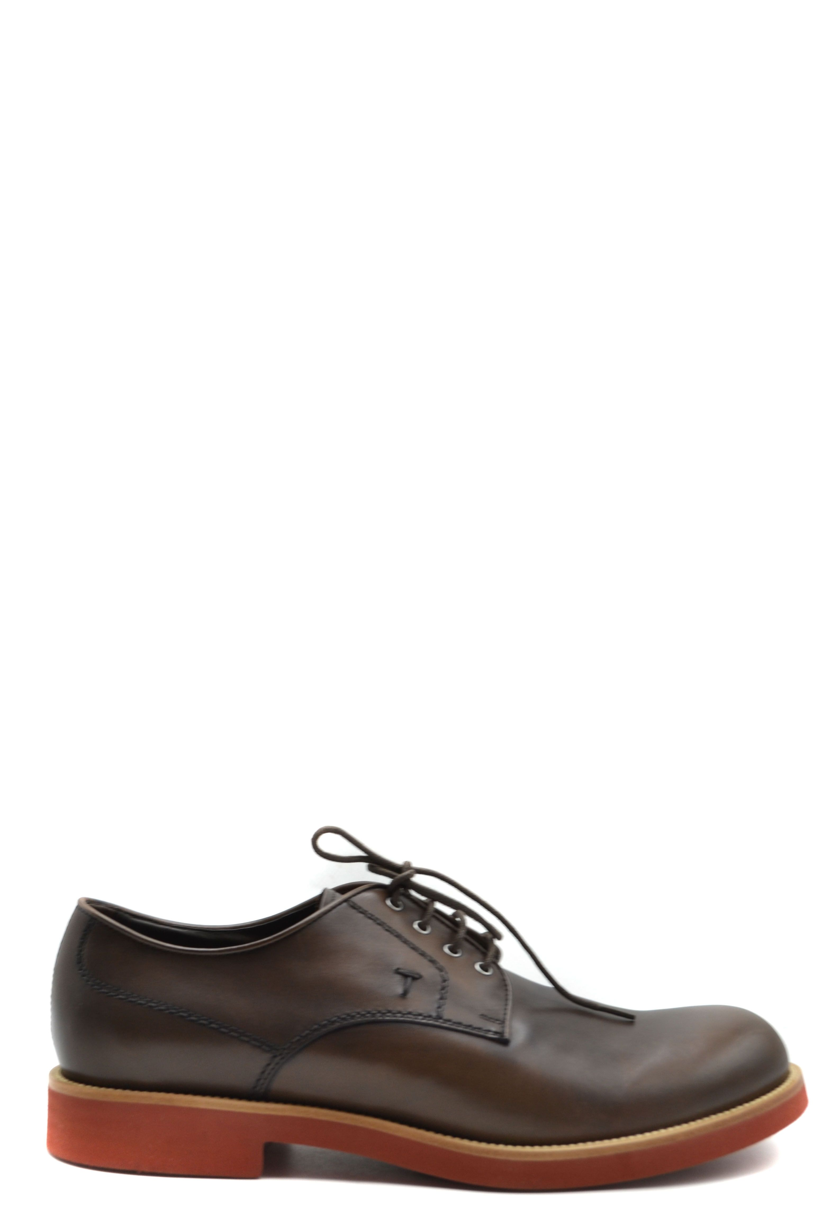 Tod`S Men's Lace Ups Shoes In Brown