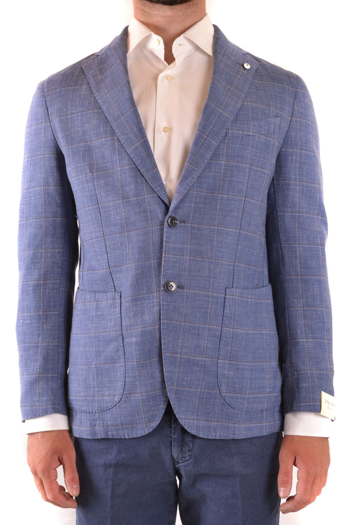 L.B.M Men's Blazer In Blue