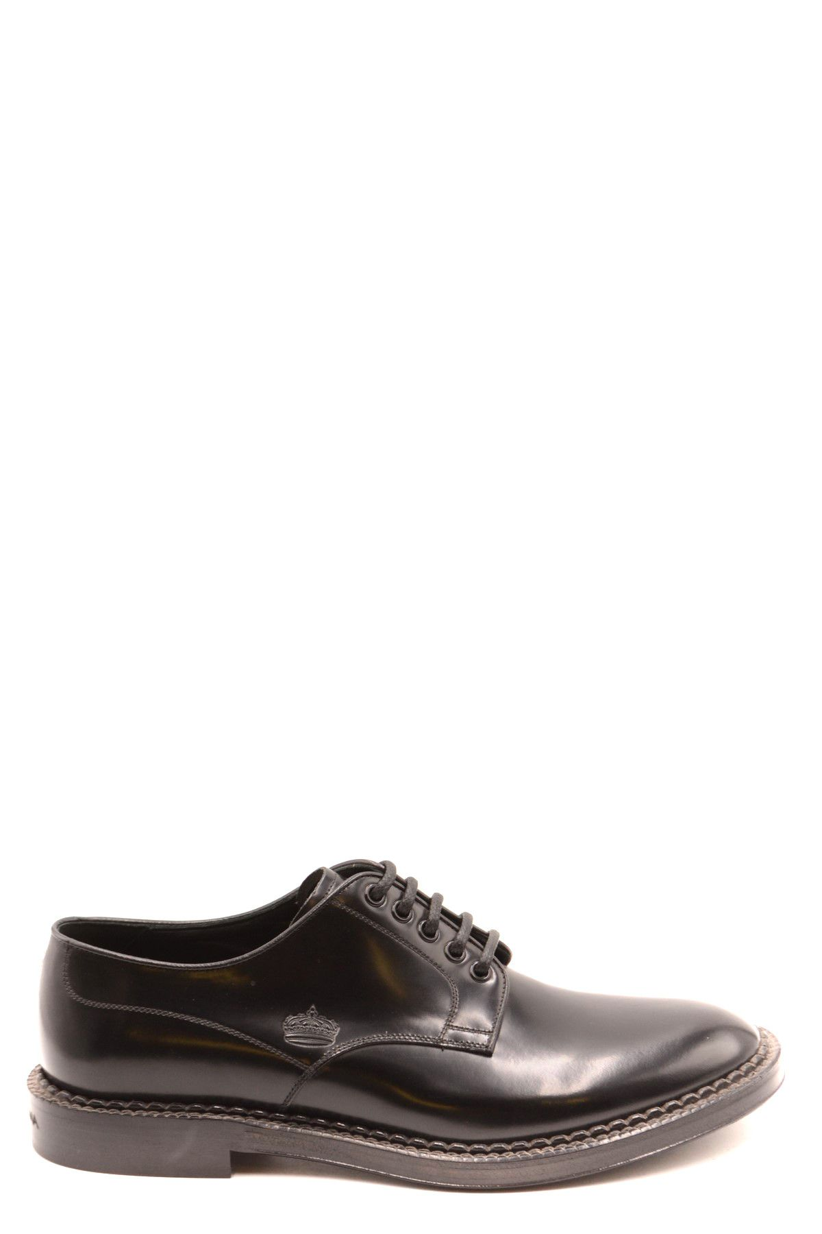 Dolce & Gabbana Men's Lace Ups Shoes In Black