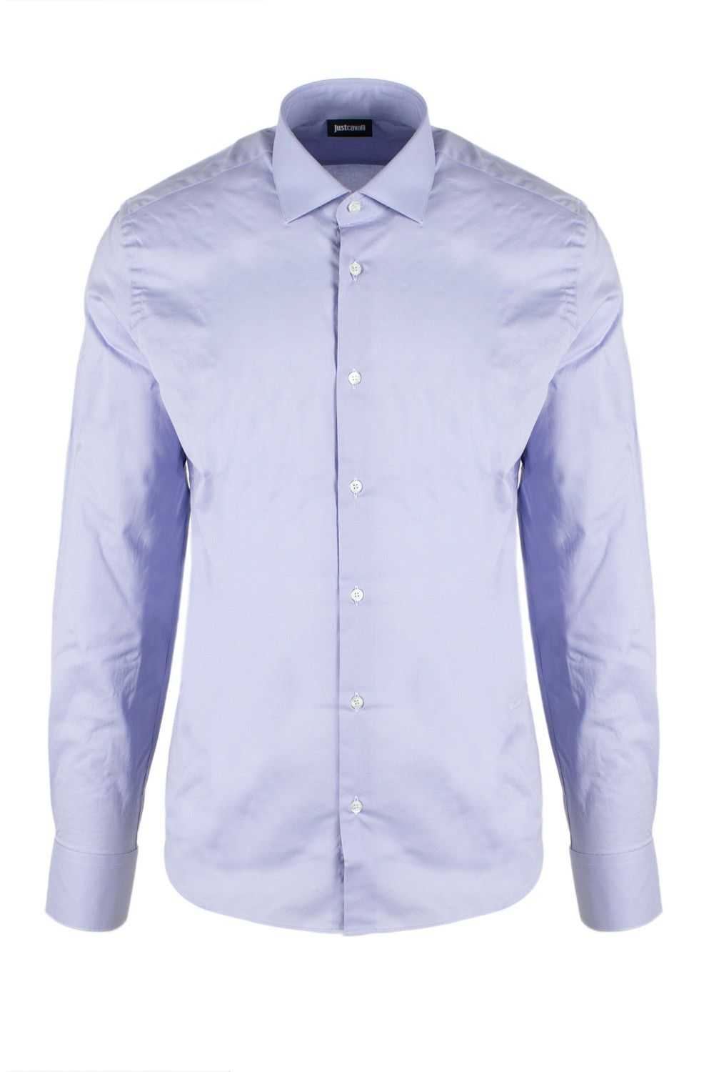 Just Cavalli Men's Shirt In Light Blue