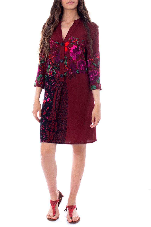 Desigual Women's Dress In Bordeaux