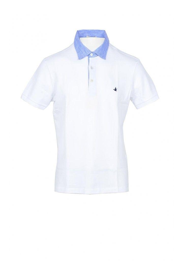 Brooksfield Men's Polo In White