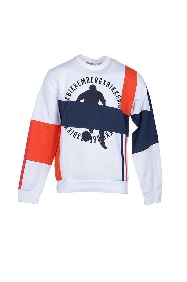 Bikkembergs Men's Sweatshirt In White