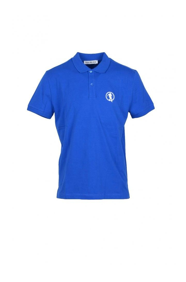 Bikkembergs Men's Polo In Blue