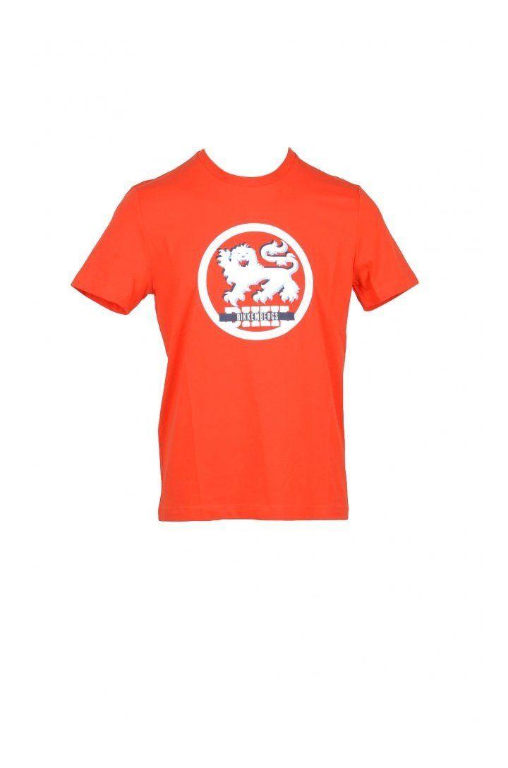 Bikkembergs Men's T-Shirt In Orange