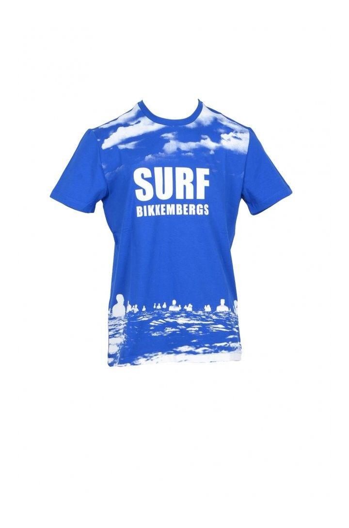 Bikkembergs Men's T-Shirt In Blue