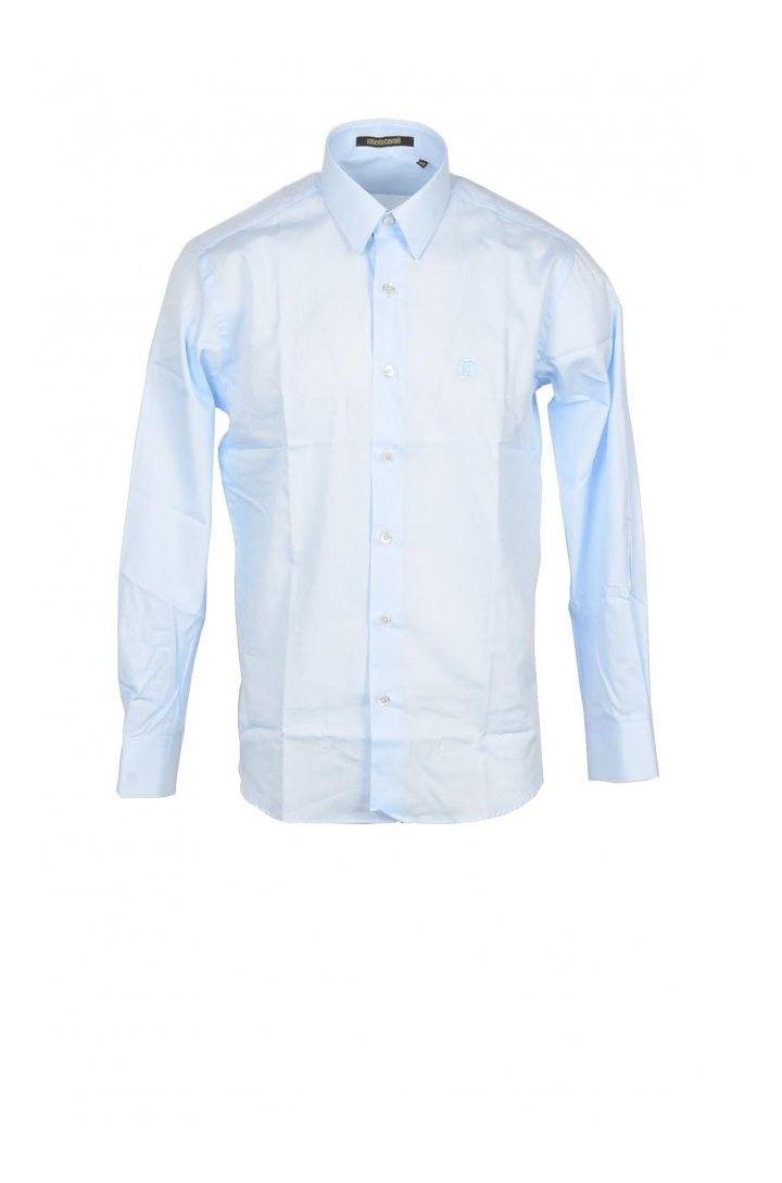 Roberto Cavalli Men's Shirt In Light Blue