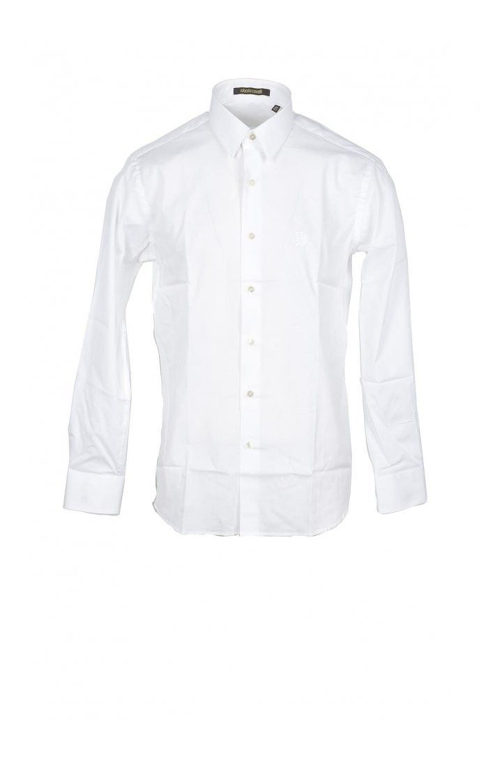 Roberto Cavalli Men's Shirt In White