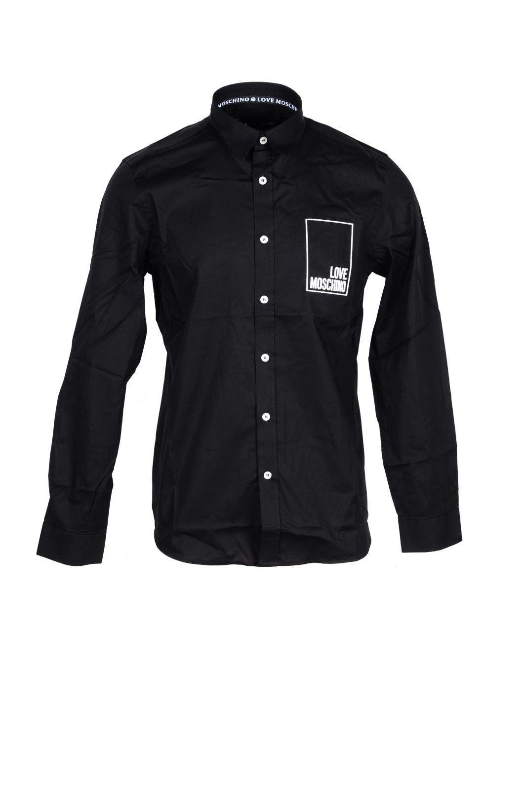 Love Moschino Men's Shirt In Black