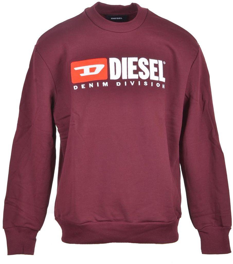 Diesel Men's Sweatshirt In Bordeaux