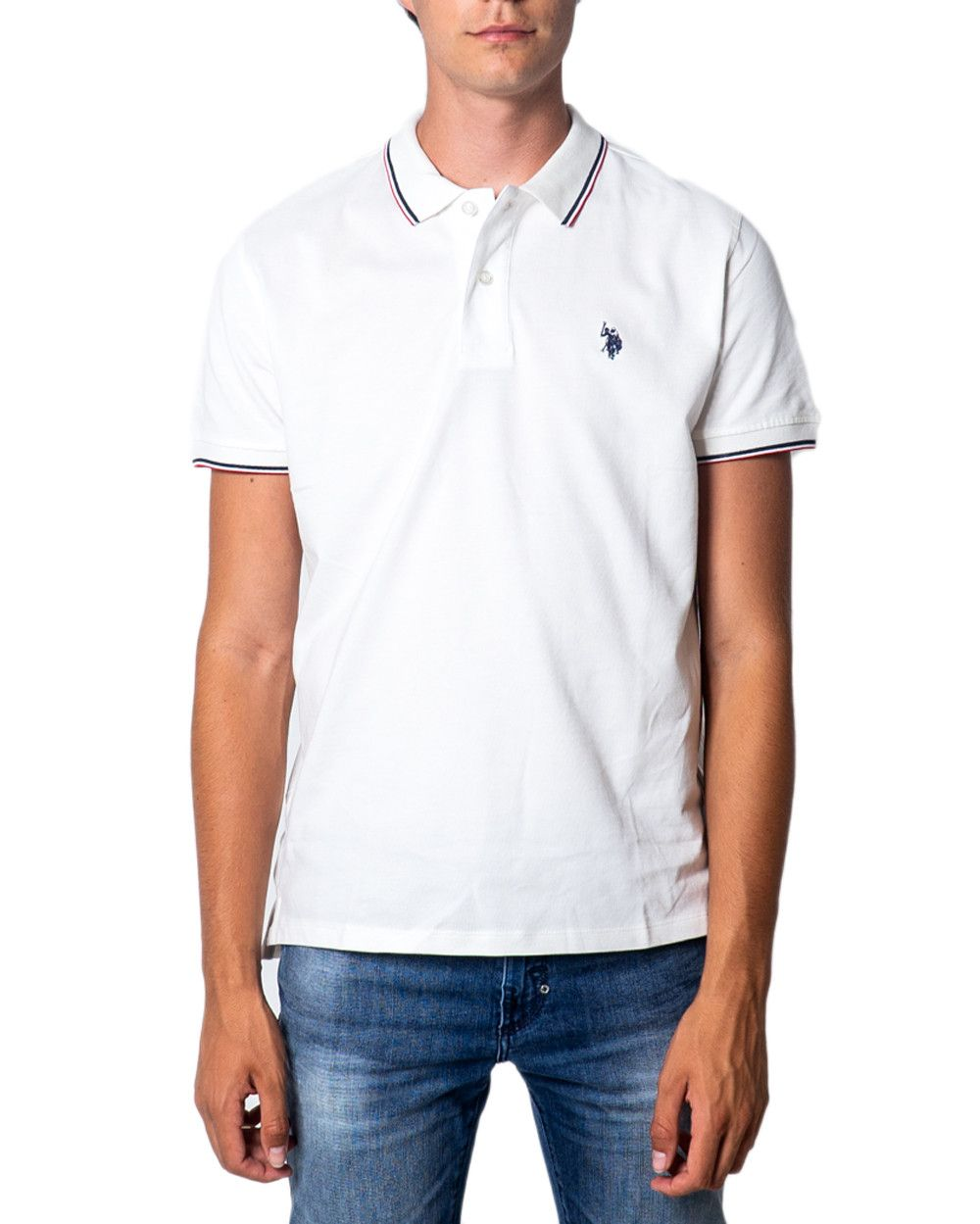 U.S. Polo Assn. Men's Polo In White