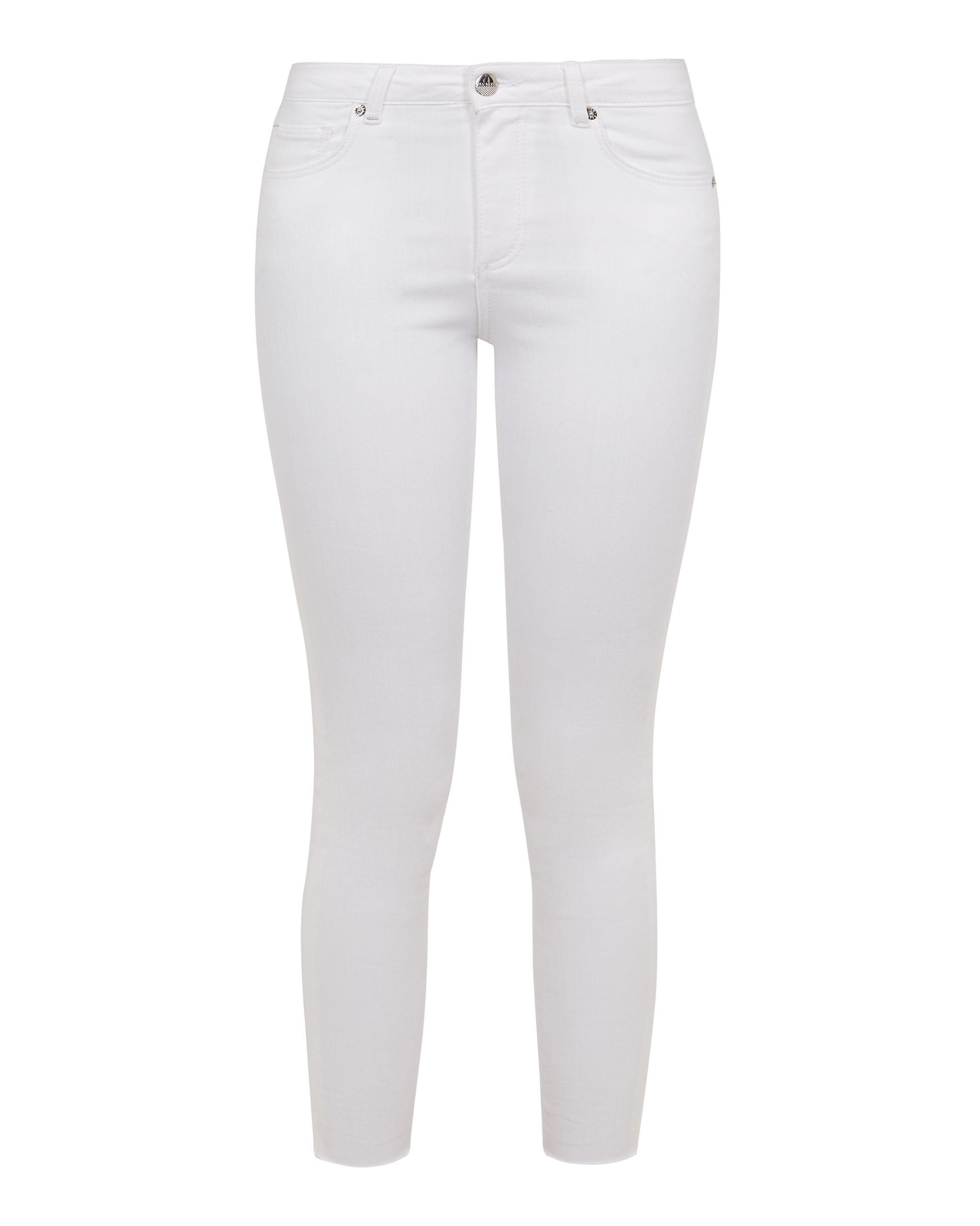 Ted Baker Catarsi Uneven Raw Hem Skinny Jeans, White