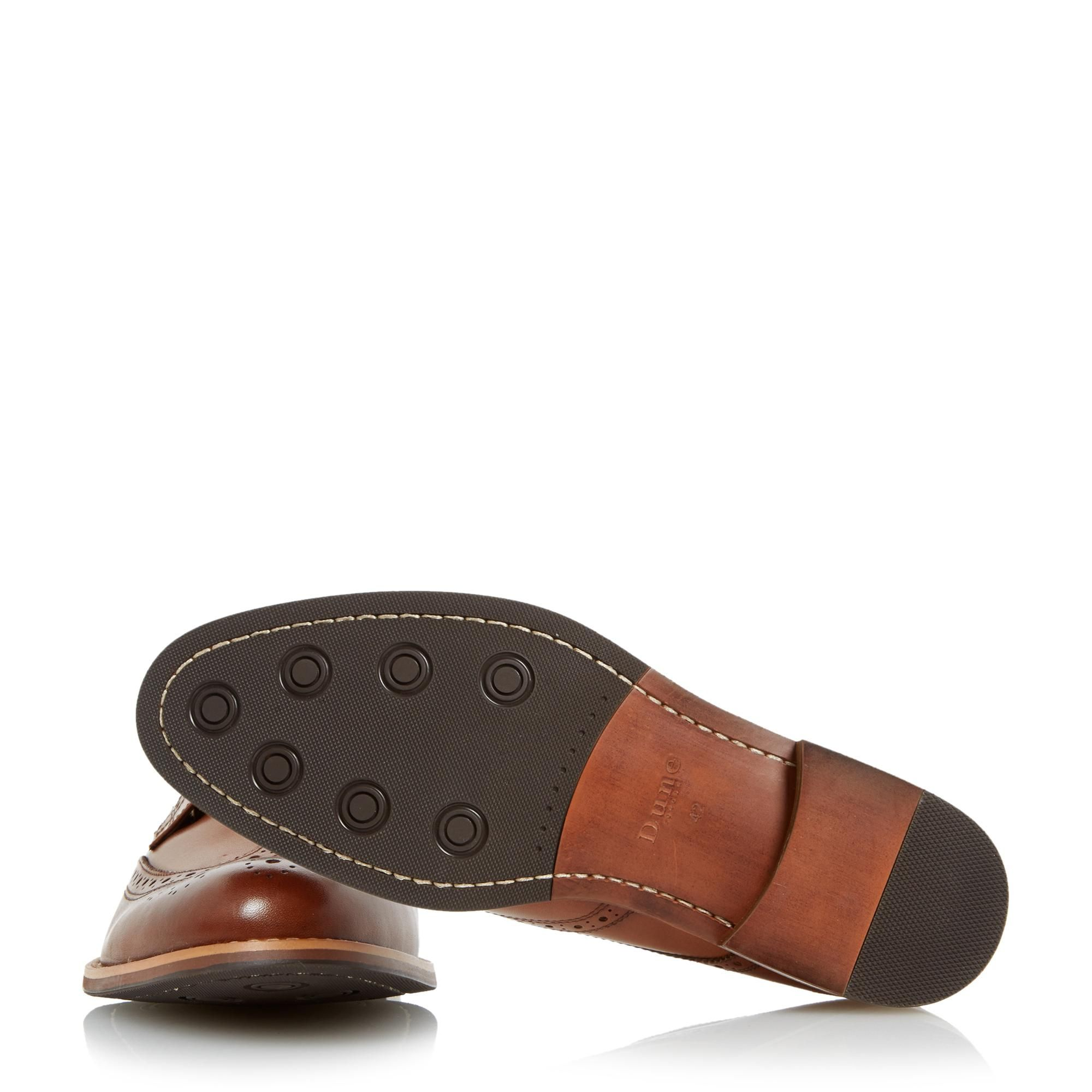 Dune Mens WRADCLIFFE Wide Fit Derby Brogue Shoes
