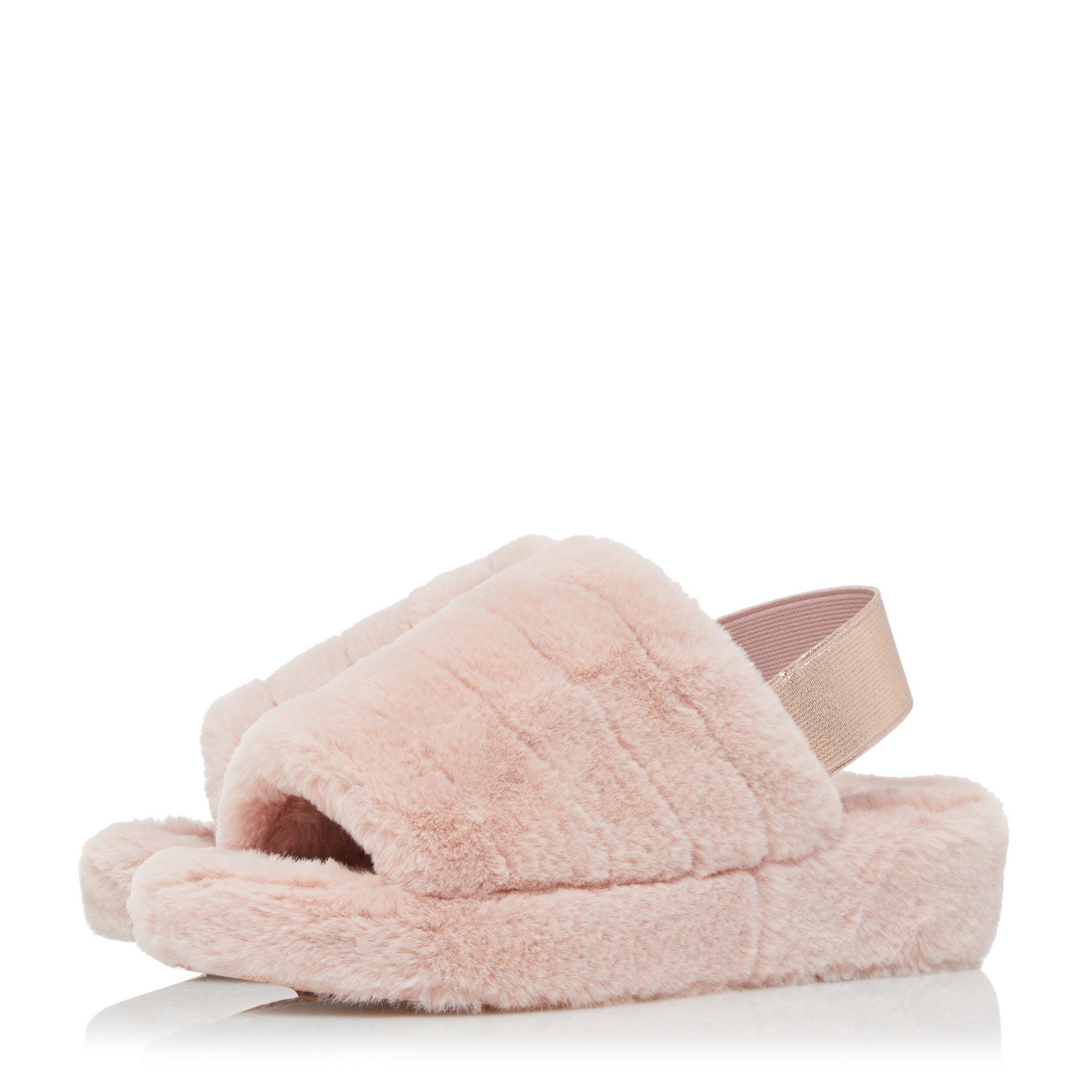 Dune Ladies WYNNIE Fluffy Mule Slingback Slippers