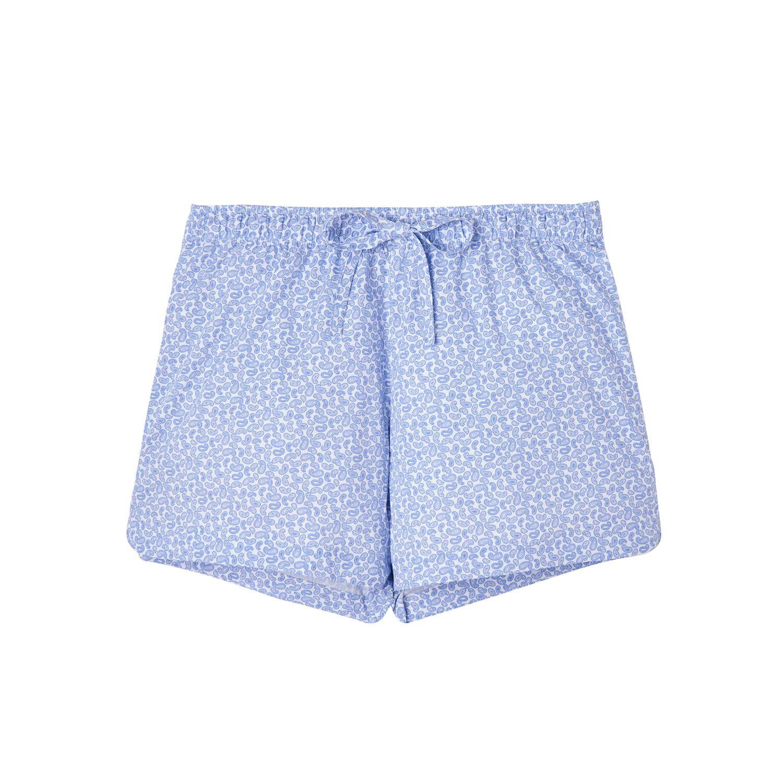 British Boxers Women's White Paisley Pyjama Shorts