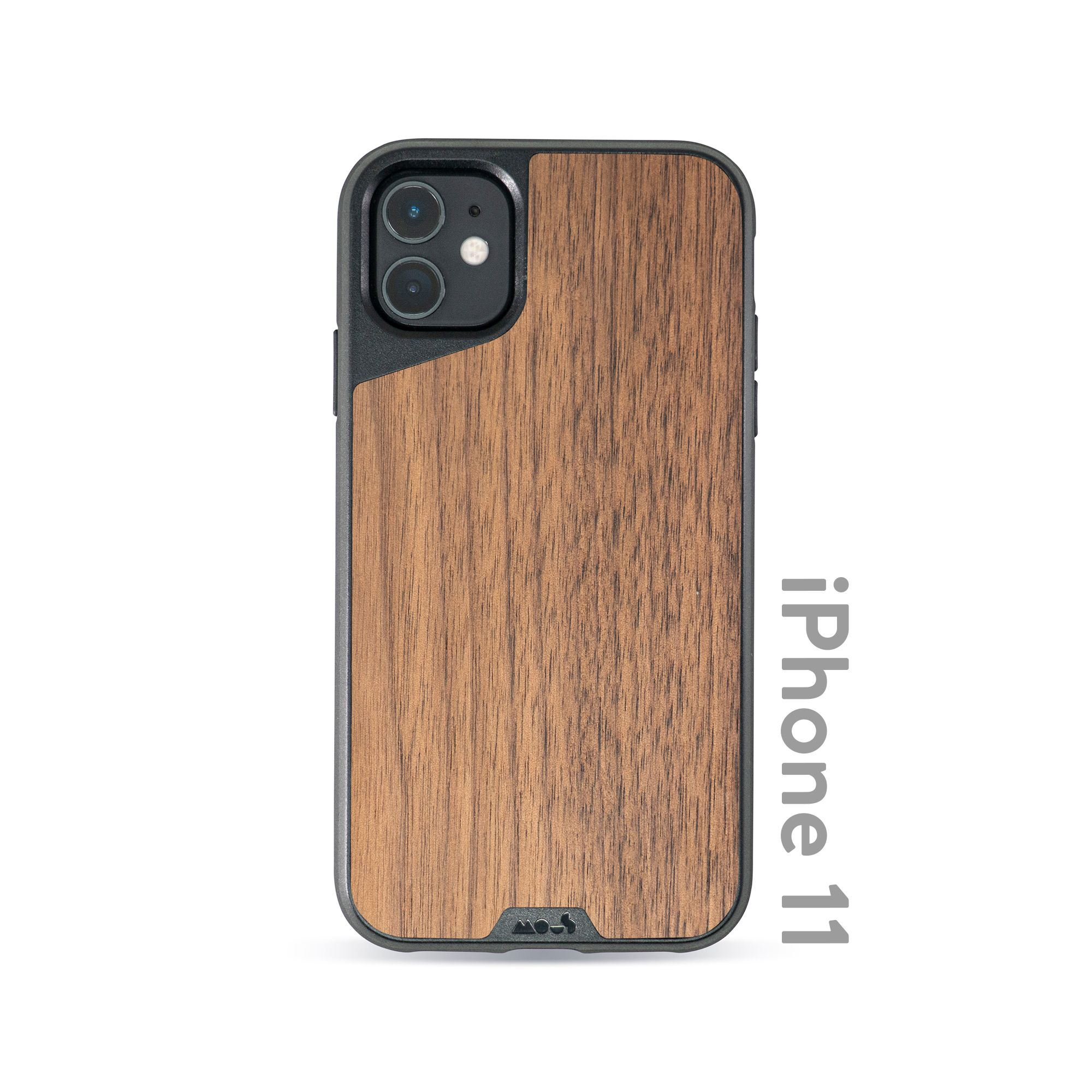 Mous - Protective Case for iPhone 11 - Limitless 3.0 - Walnut - No Screen Protector