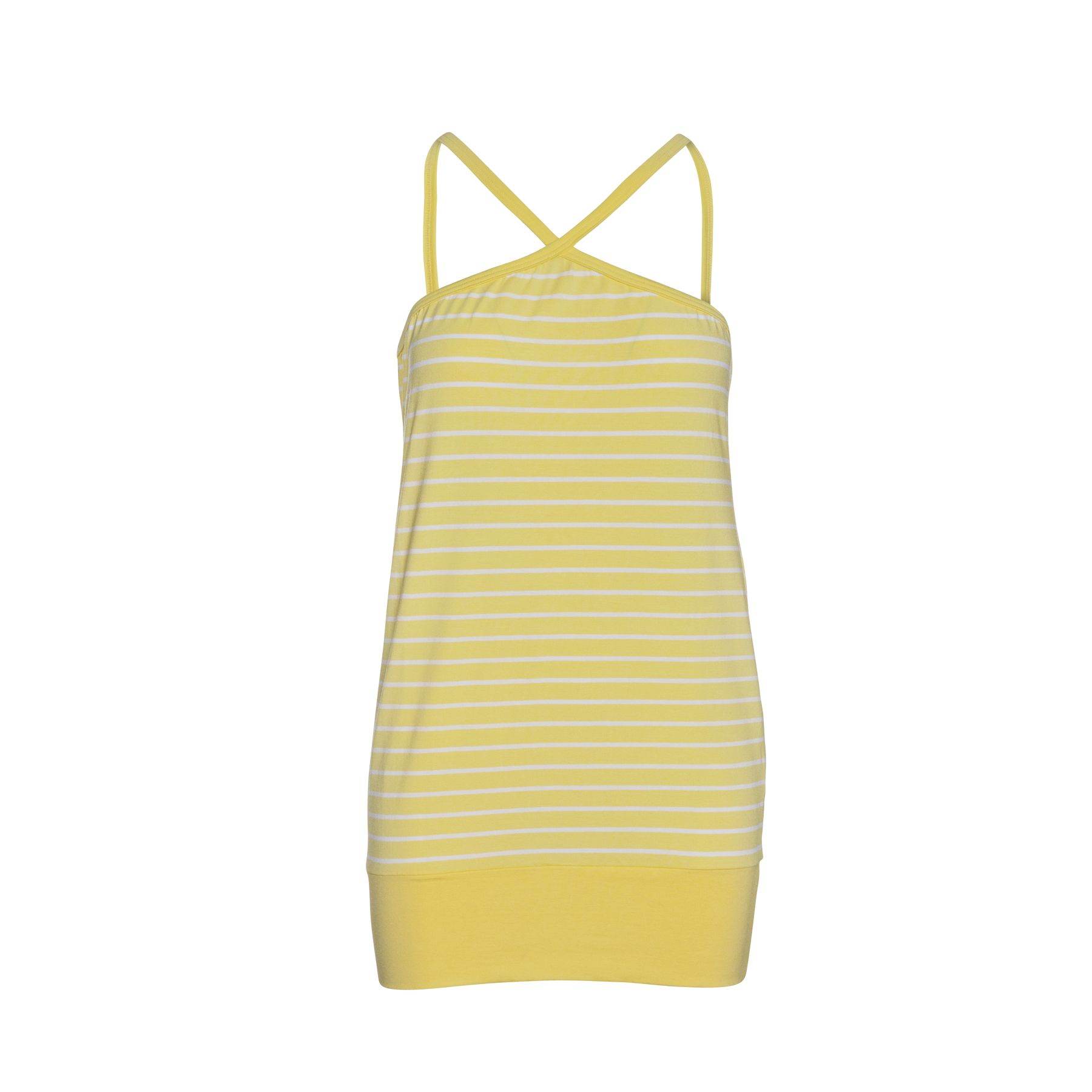 Strappy Striped Mini Dress in Yellow