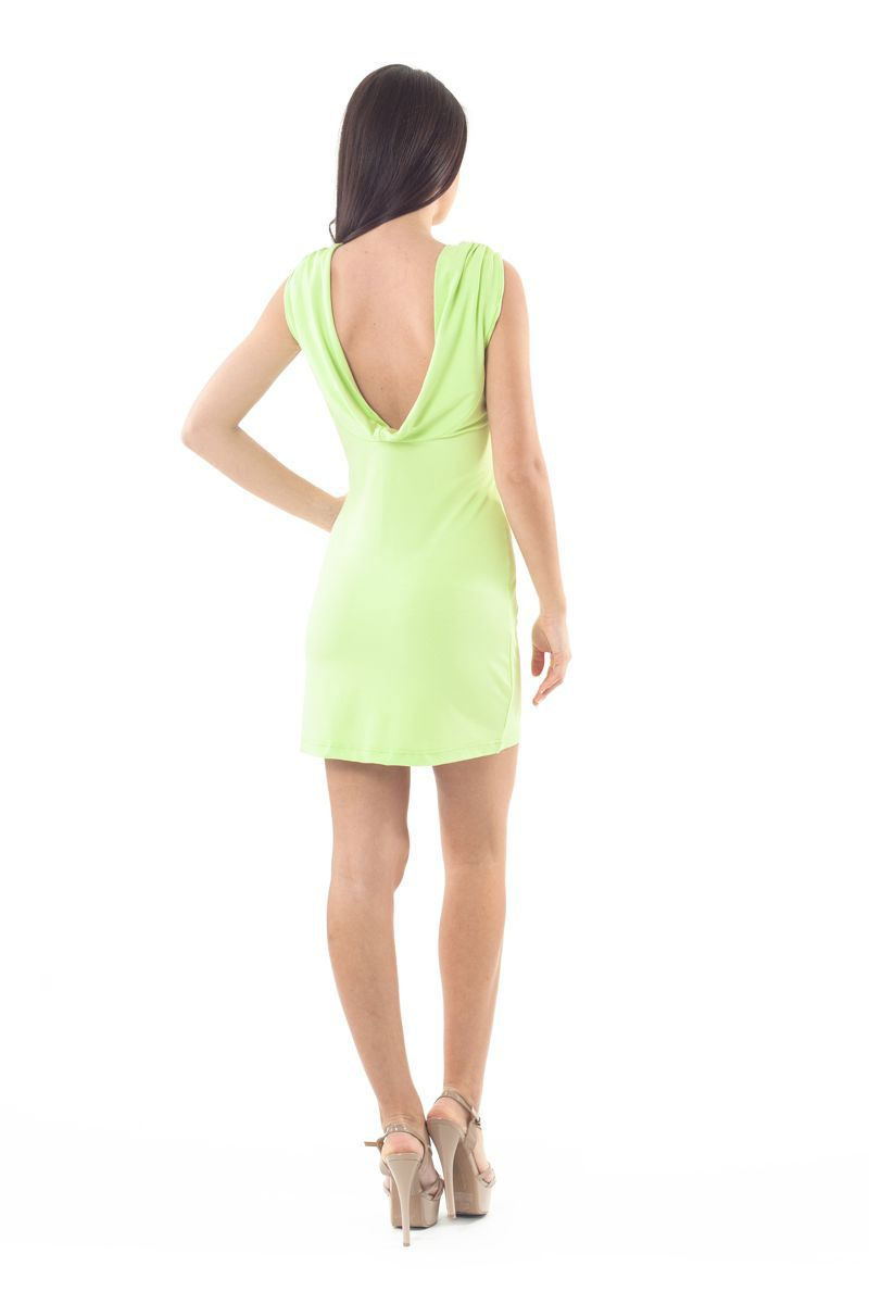 Sleeveless Drape Back Dress