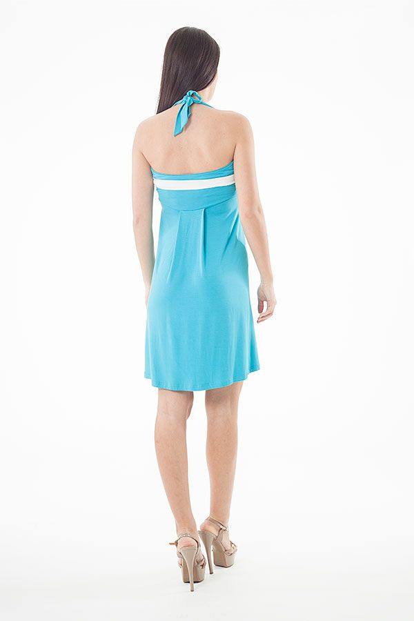 Halter Neck Stripe Detail Dress
