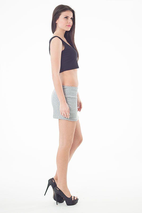 Lurex Mini Skirt