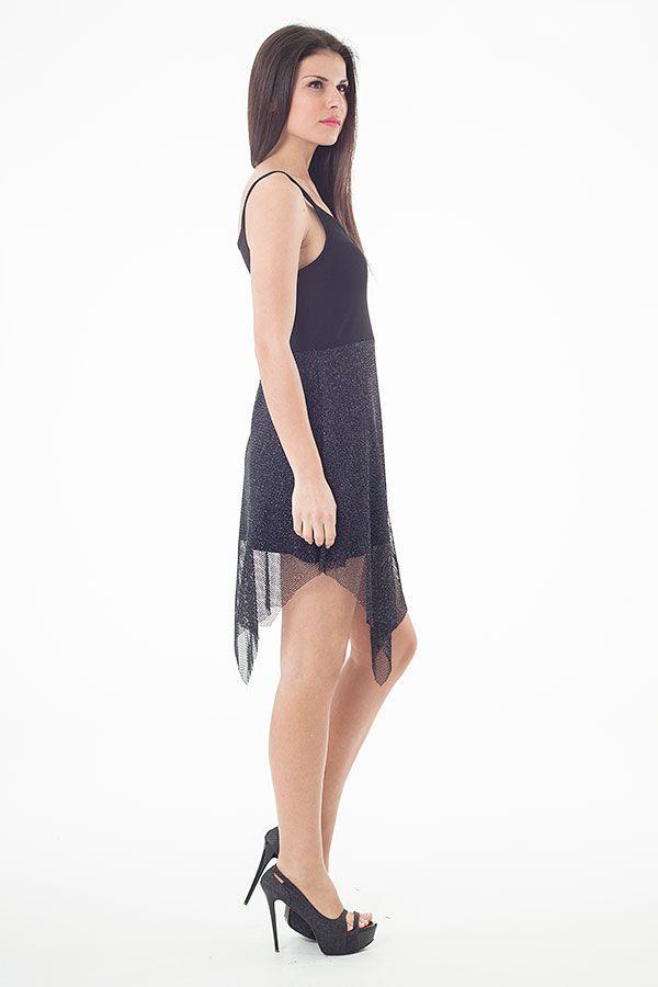 Sheer Layer Detail Mini Dress