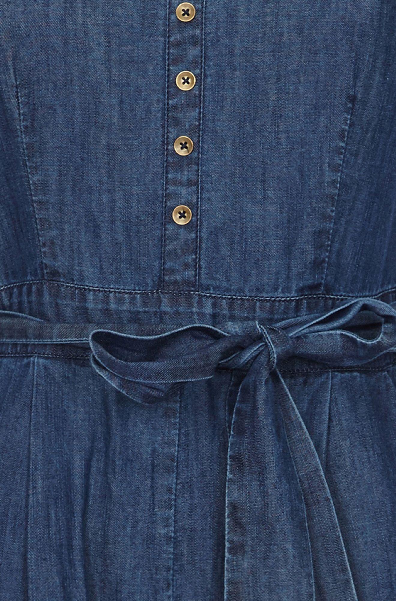 Denim Jumpsuit With Button Detail