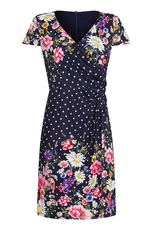 Daisy Bouquet Mirrored Wrap Dress