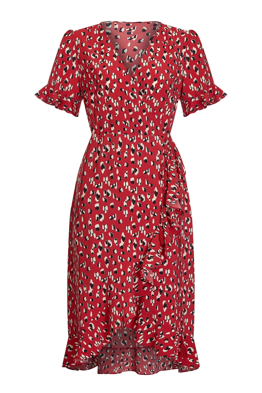 Animal Dash Print Wrap Dress