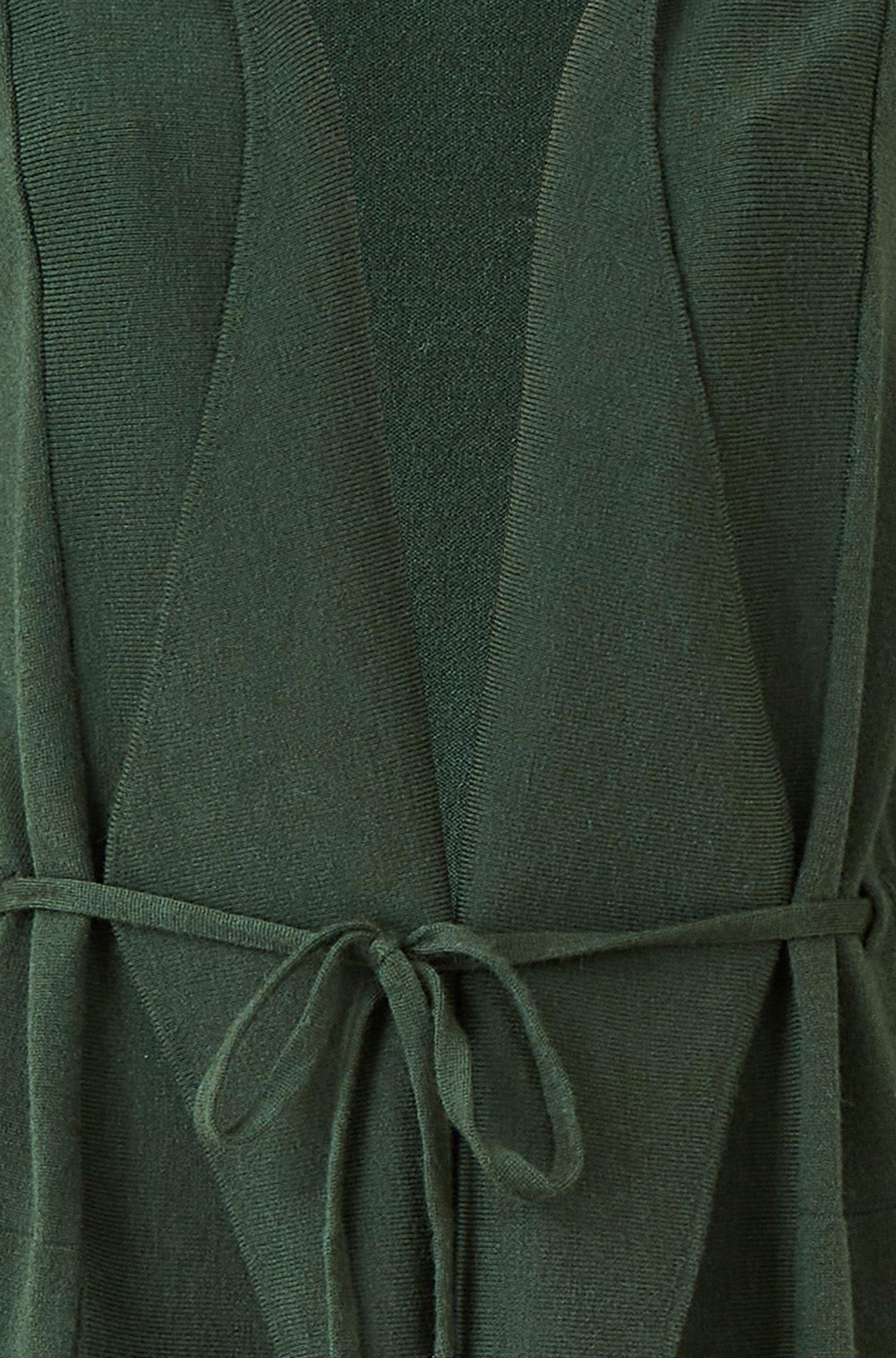 YUMI Black Waterfall Cardigan With Turn Up Sleep