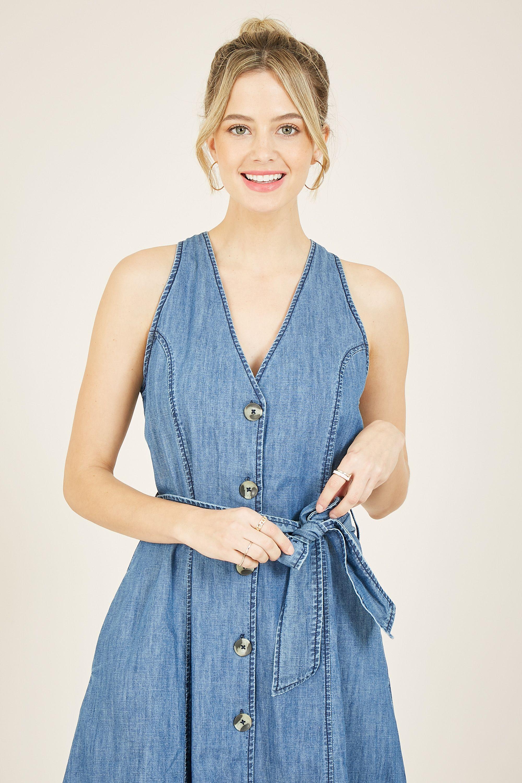 Yumi Denim Shirt Dress
